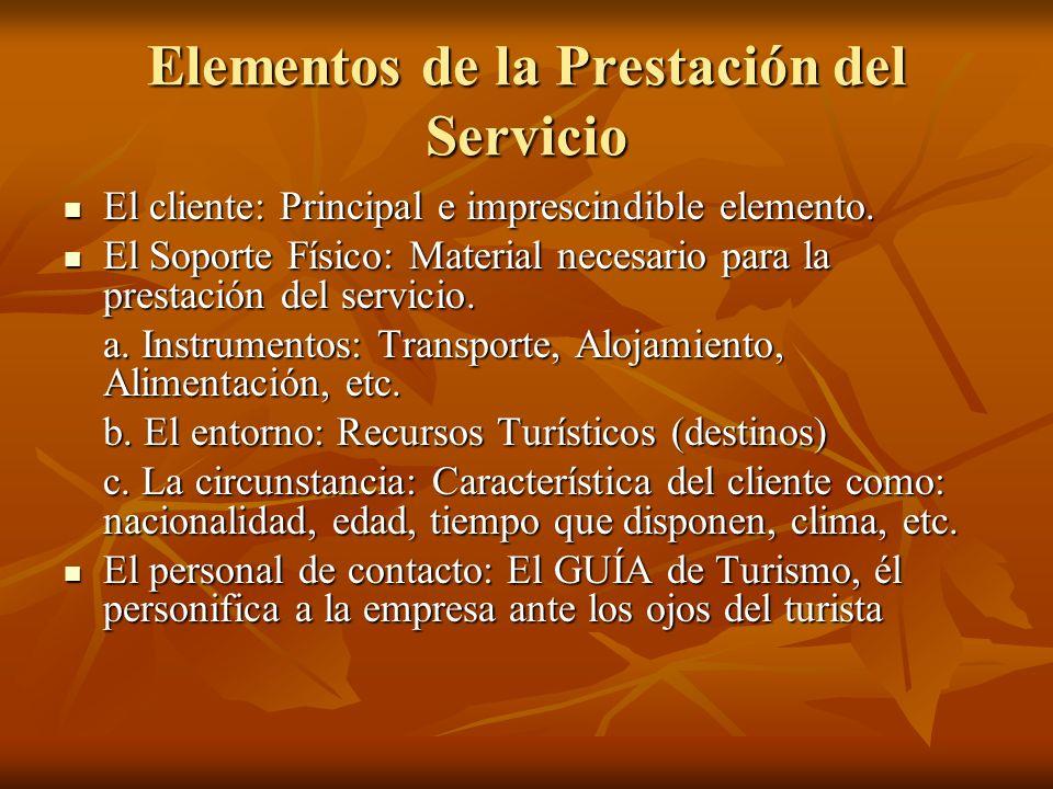 Elementos de la Prestación del Servicio