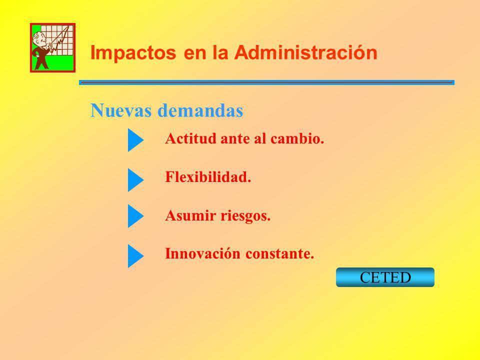 Impactos en la Administración Nuevas demandas