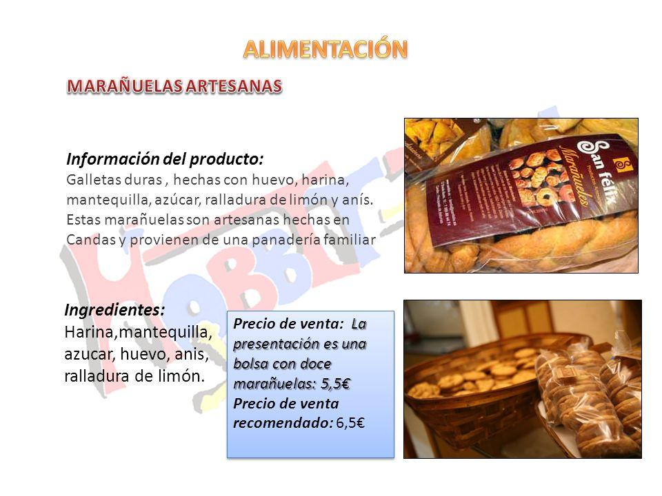ALIMENTACIÓN MARAÑUELAS ARTESANAS Información del producto: