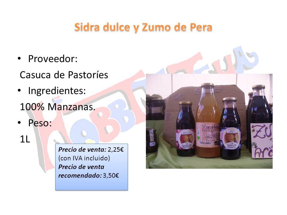 Sidra dulce y Zumo de Pera
