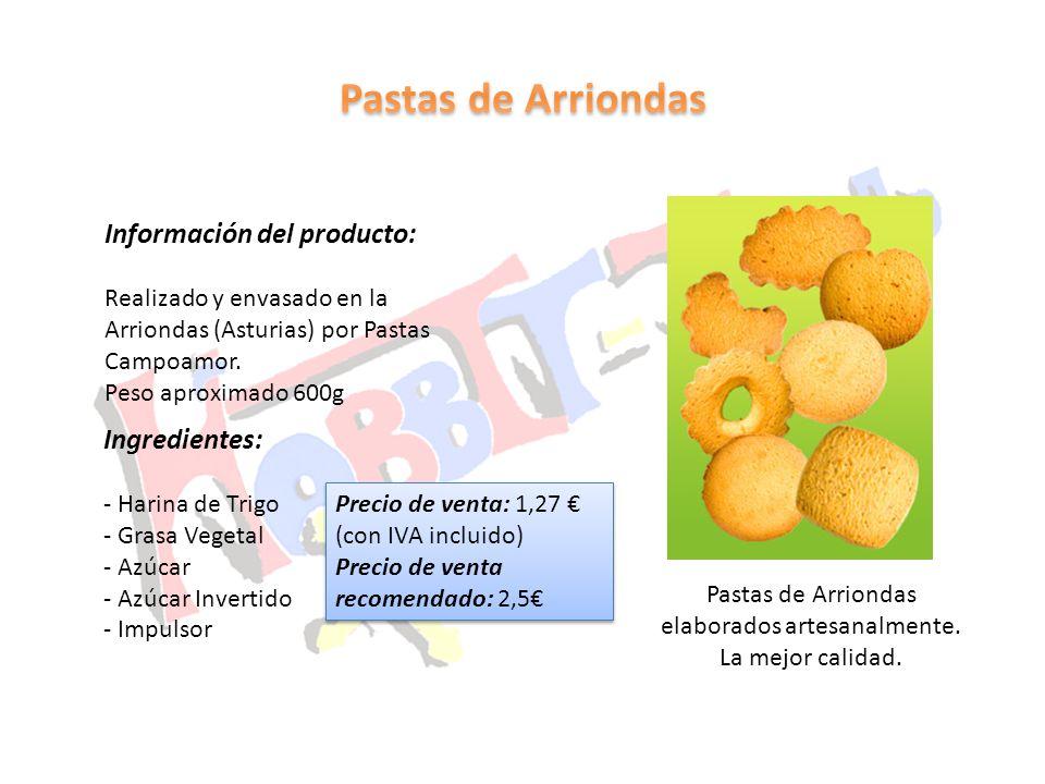 Pastas de Arriondas elaborados artesanalmente.