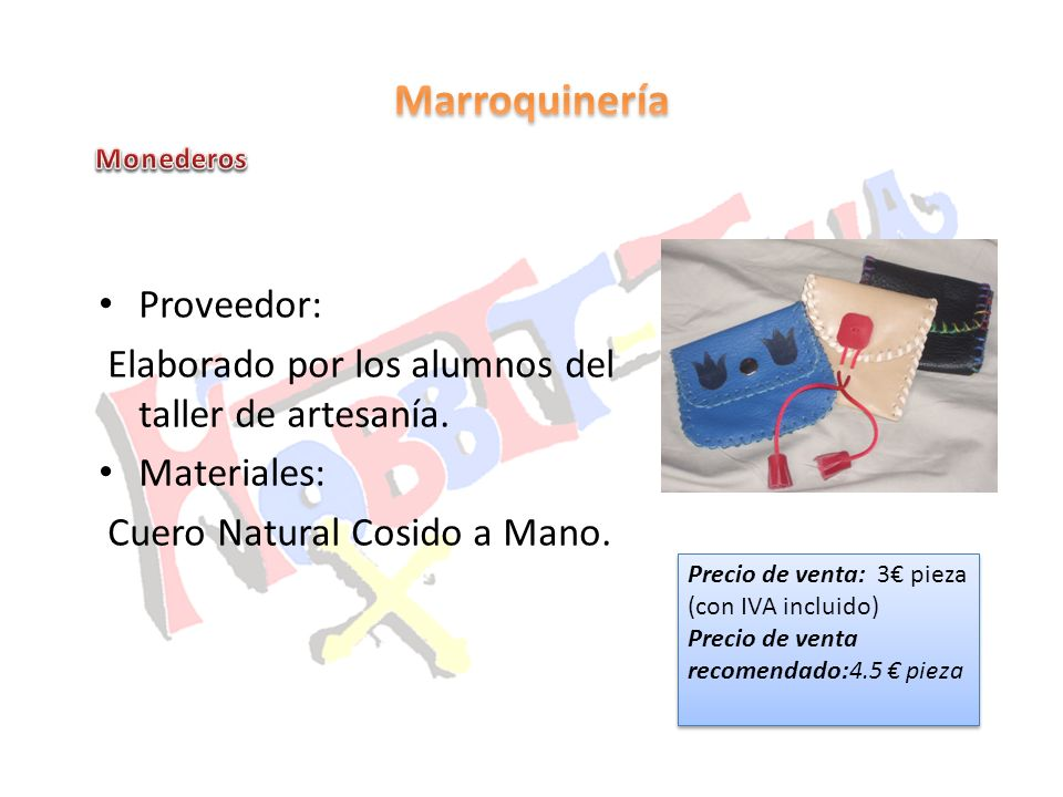 Marroquinería Proveedor: