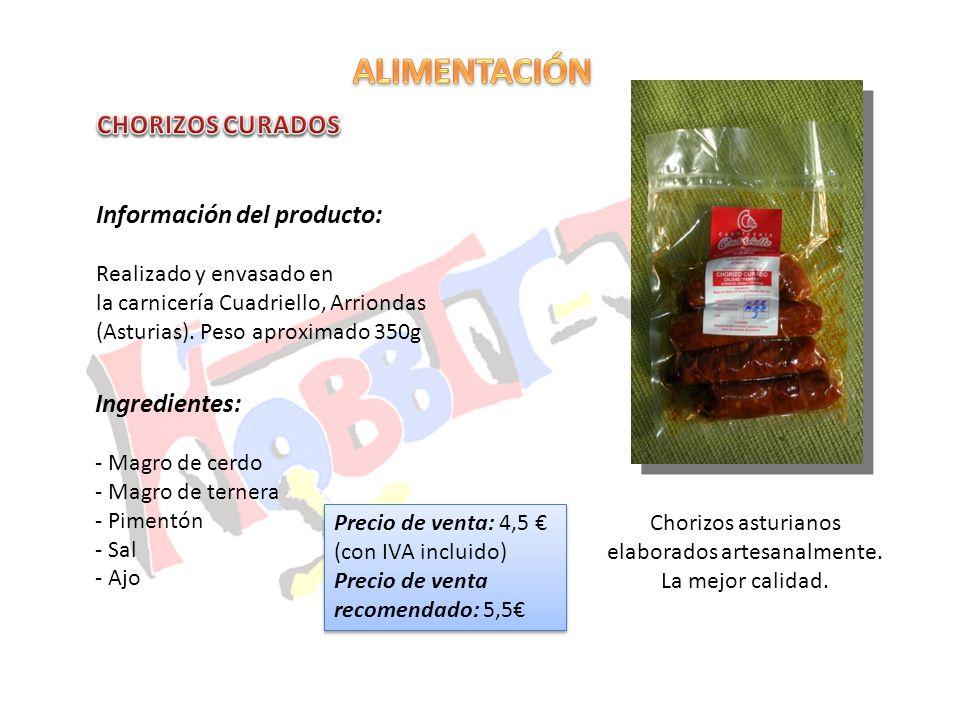 Chorizos asturianos elaborados artesanalmente.