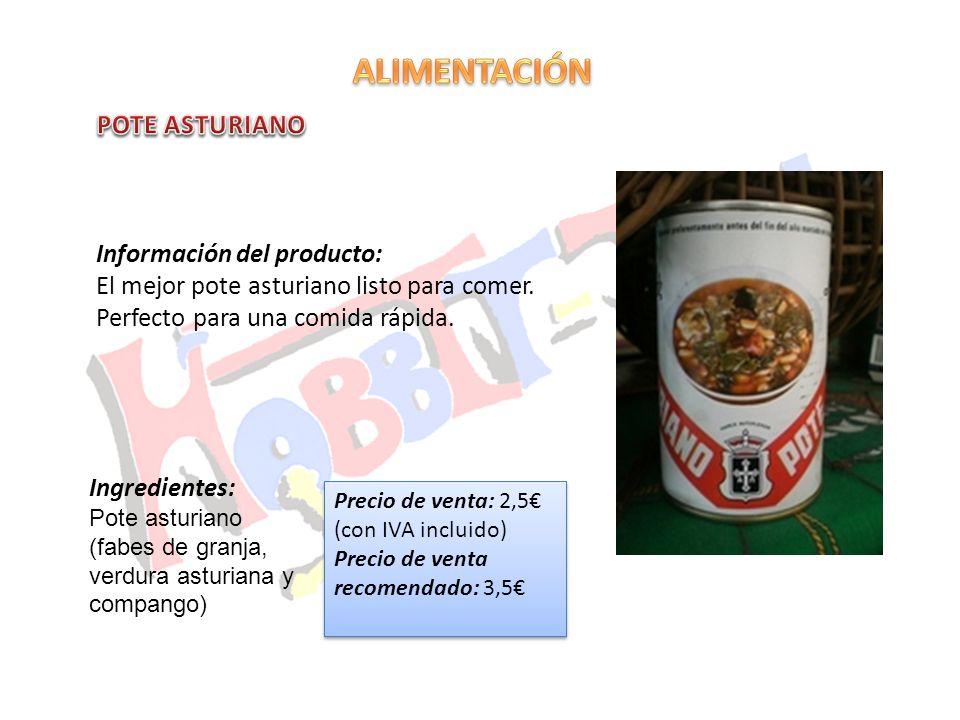 ALIMENTACIÓN POTE ASTURIANO Información del producto: