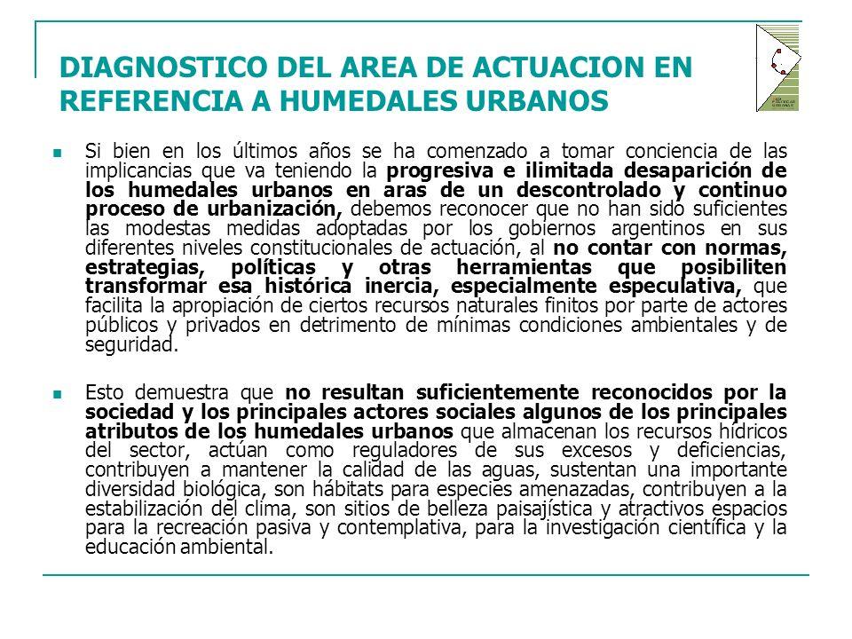 DIAGNOSTICO DEL AREA DE ACTUACION EN REFERENCIA A HUMEDALES URBANOS