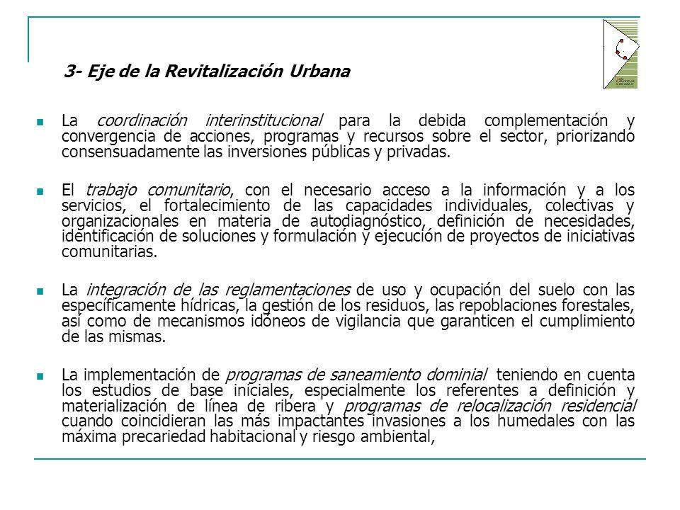 3- Eje de la Revitalización Urbana