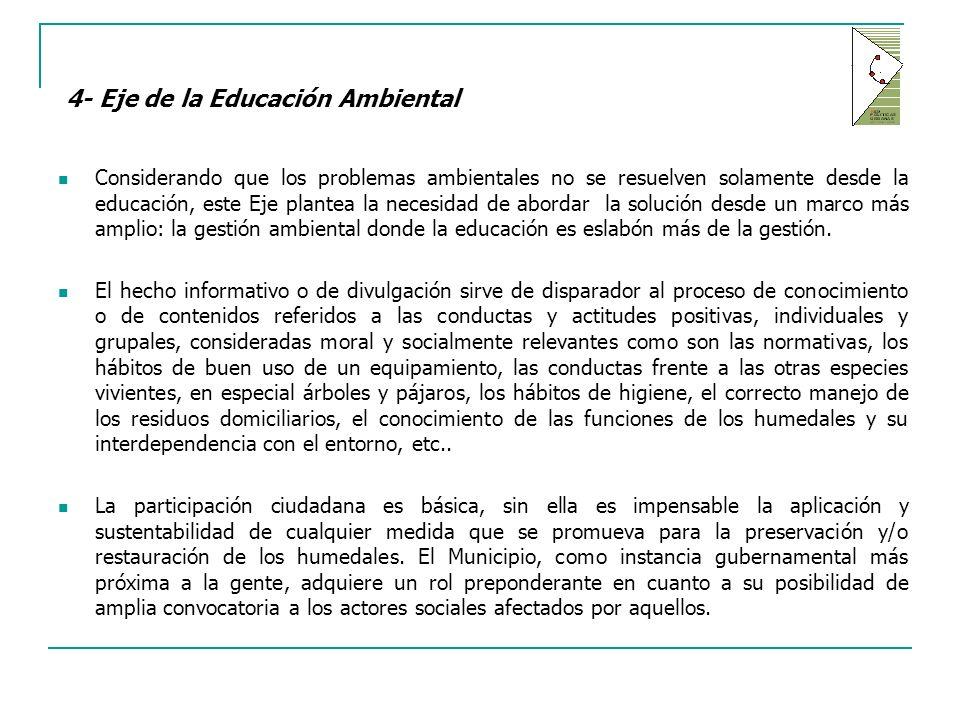 4- Eje de la Educación Ambiental