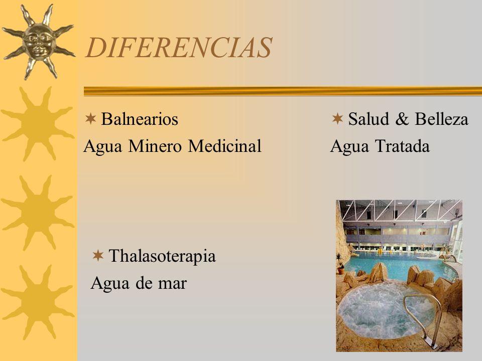 DIFERENCIAS Balnearios Agua Minero Medicinal Salud & Belleza