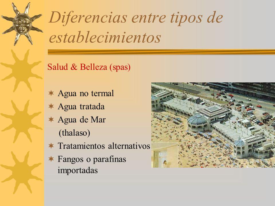 Diferencias entre tipos de establecimientos