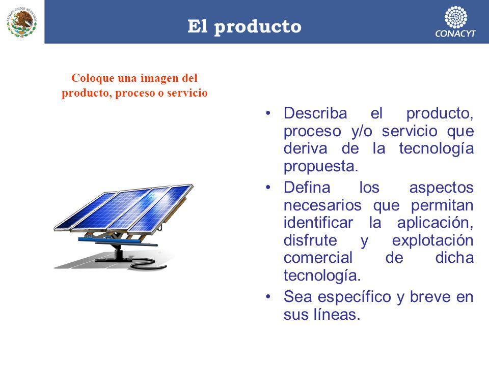 Coloque una imagen del producto, proceso o servicio