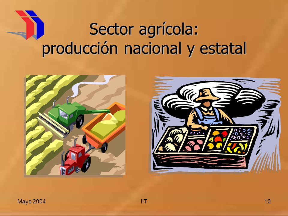 Sector agrícola: producción nacional y estatal