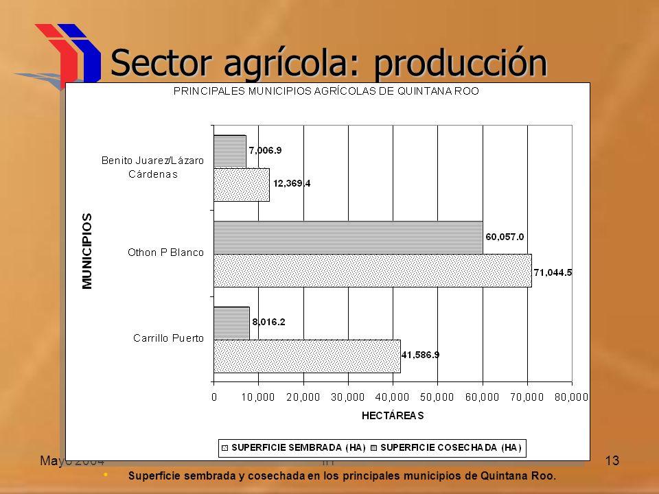 Sector agrícola: producción