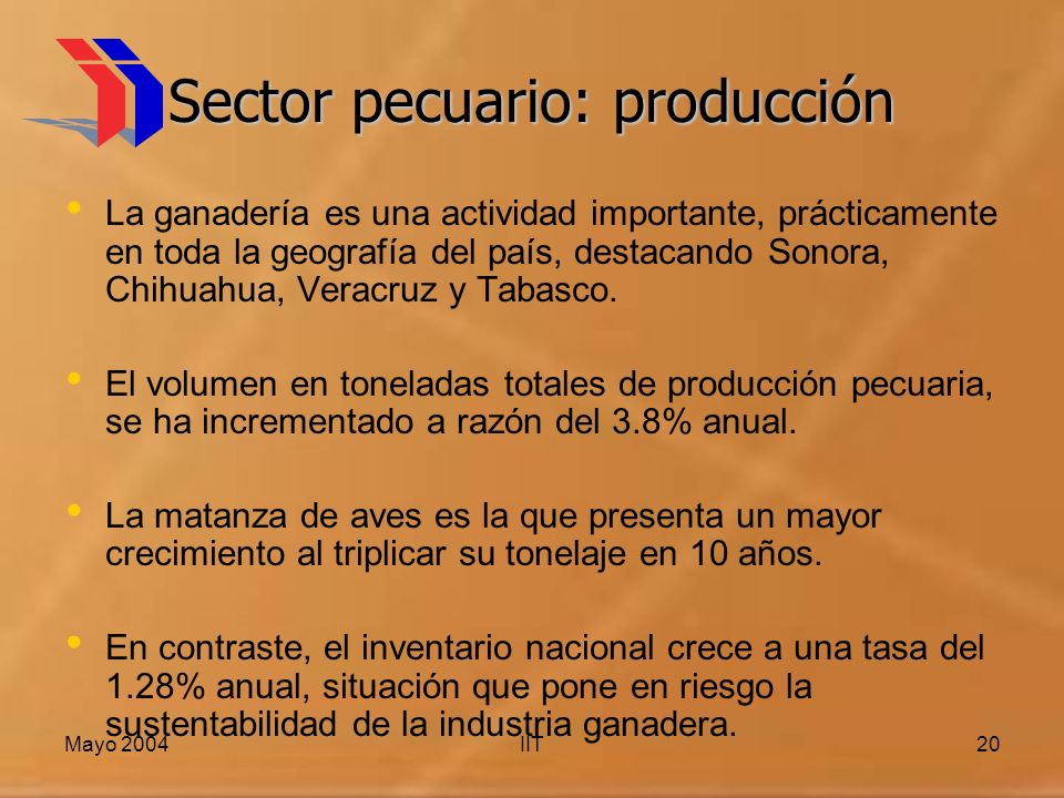 Sector pecuario: producción