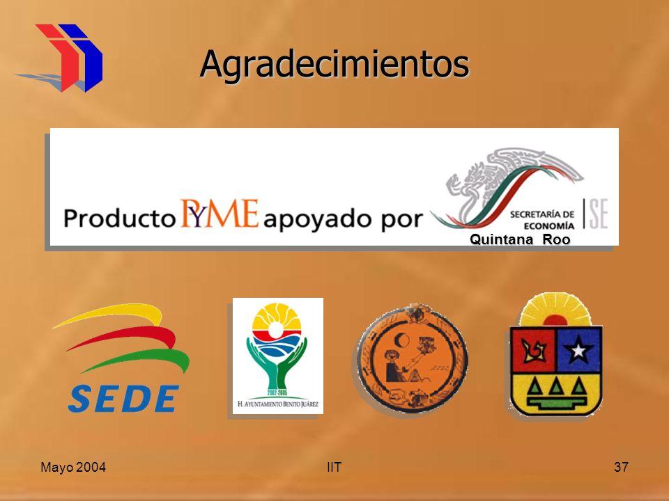 Agradecimientos Quintana Roo Mayo 2004 IIT