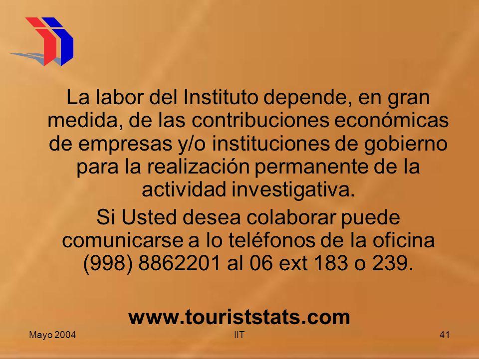 La labor del Instituto depende, en gran medida, de las contribuciones económicas de empresas y/o instituciones de gobierno para la realización permanente de la actividad investigativa.