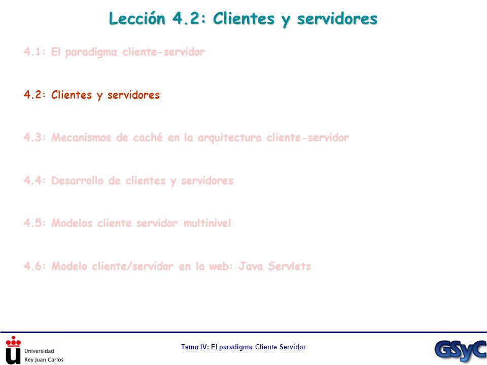 Lección 4.2: Clientes y servidores