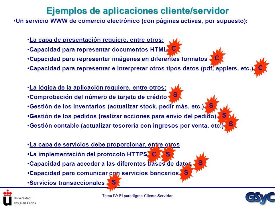 Ejemplos de aplicaciones cliente/servidor