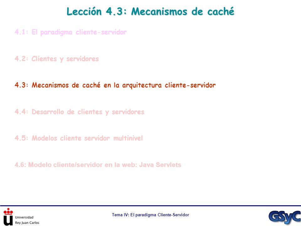 Lección 4.3: Mecanismos de caché