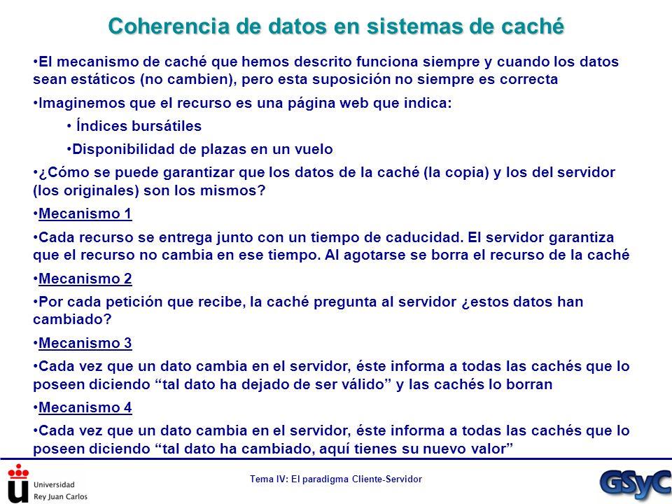 Coherencia de datos en sistemas de caché