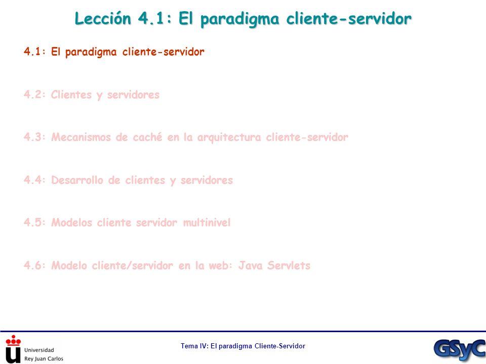 Lección 4.1: El paradigma cliente-servidor