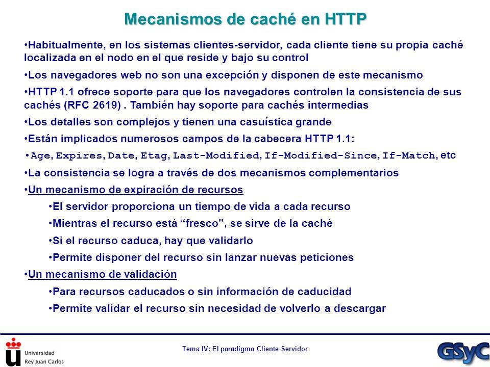 Mecanismos de caché en HTTP