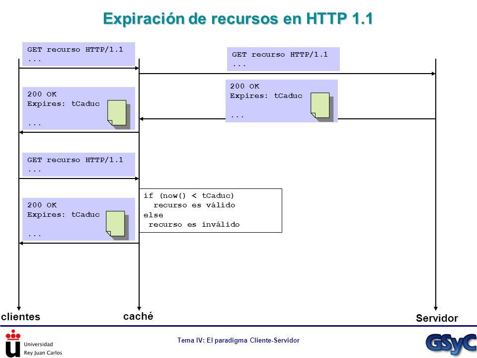 Expiración de recursos en HTTP 1.1