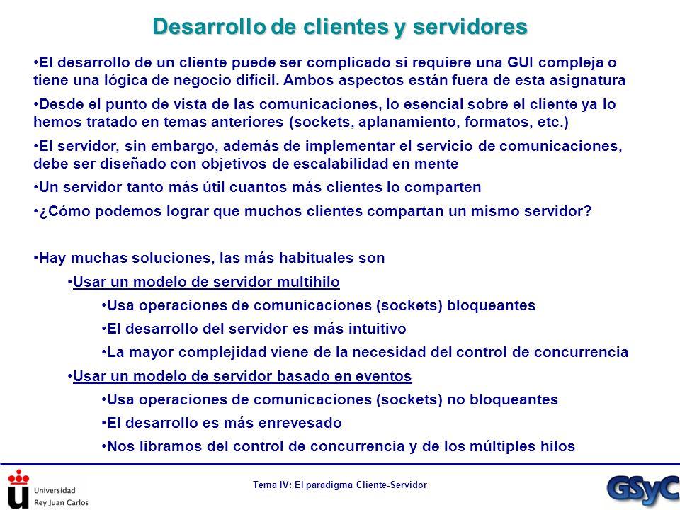 Desarrollo de clientes y servidores