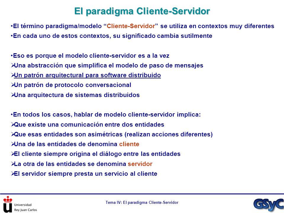 El paradigma Cliente-Servidor