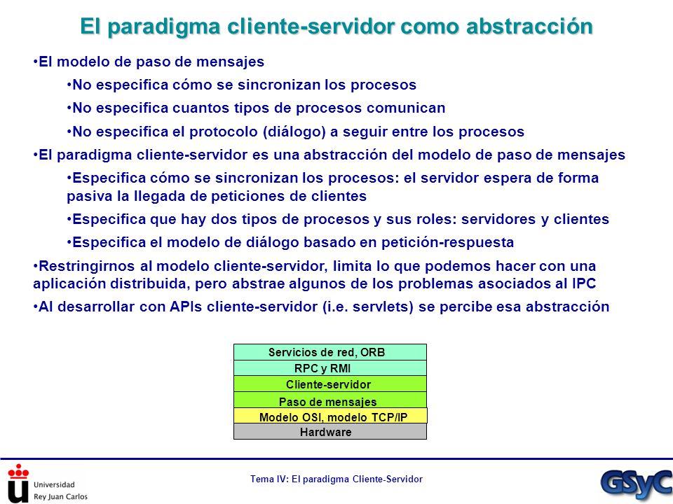 El paradigma cliente-servidor como abstracción