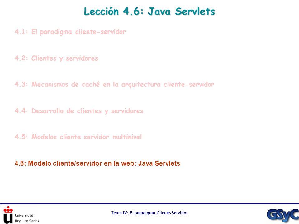 Lección 4.6: Java Servlets