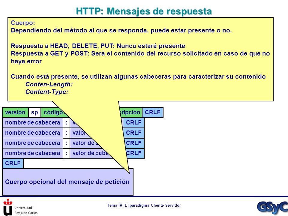HTTP: Mensajes de respuesta