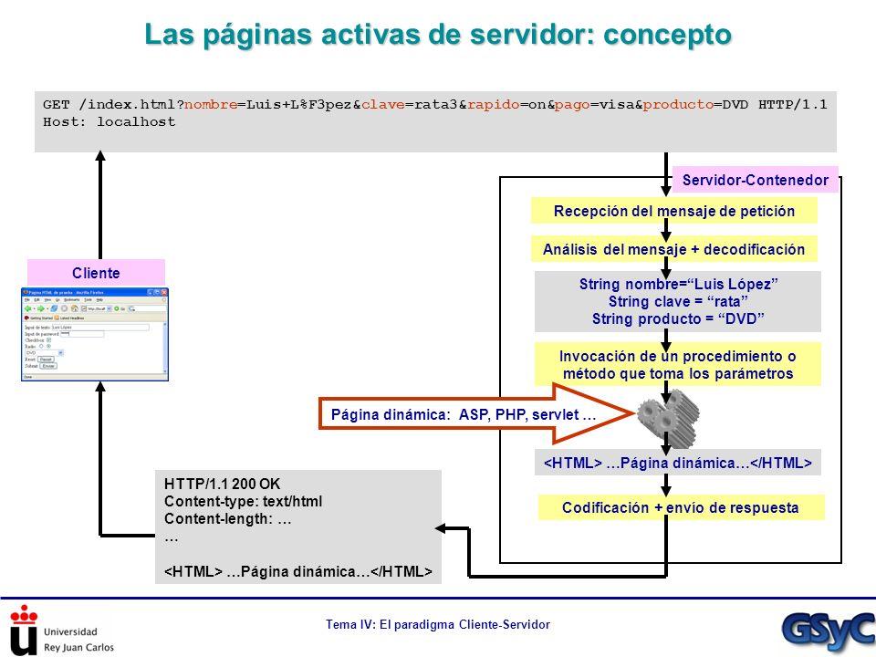 Las páginas activas de servidor: concepto
