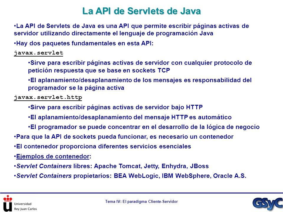 La API de Servlets de Java