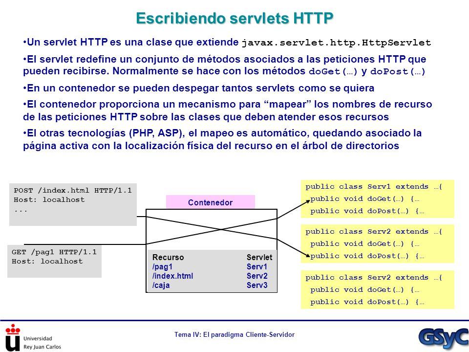 Escribiendo servlets HTTP