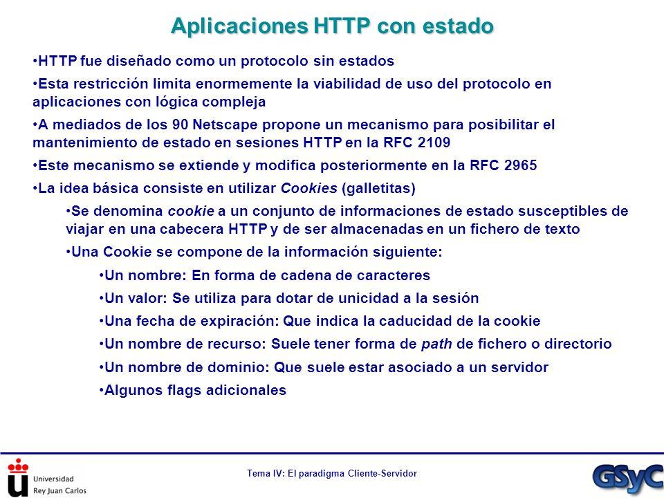 Aplicaciones HTTP con estado
