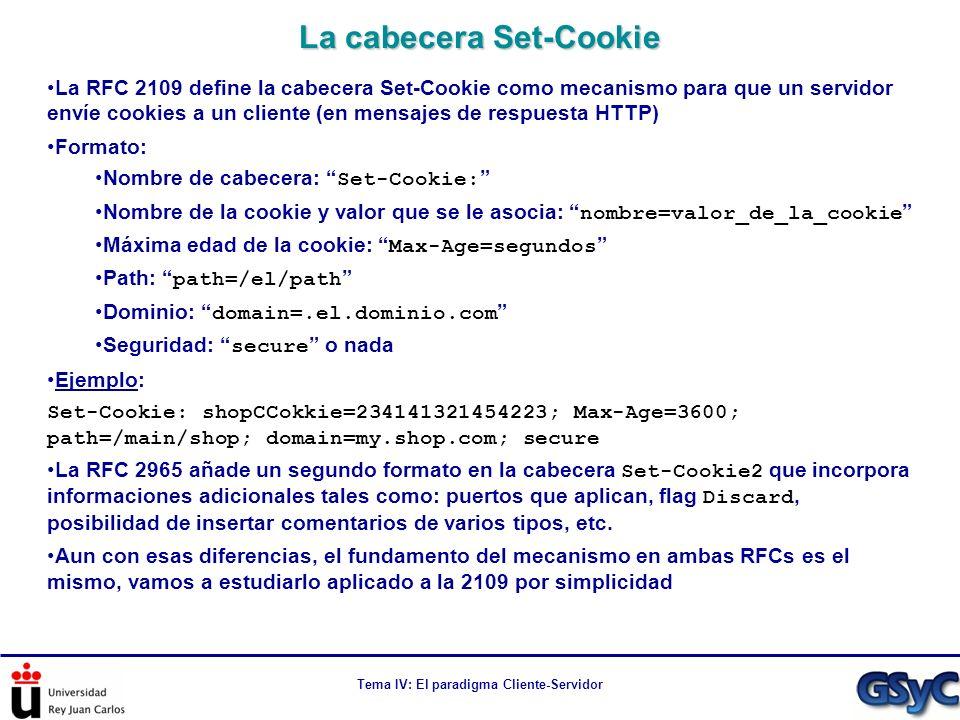 La cabecera Set-Cookie