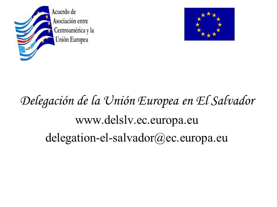 Delegación de la Unión Europea en El Salvador
