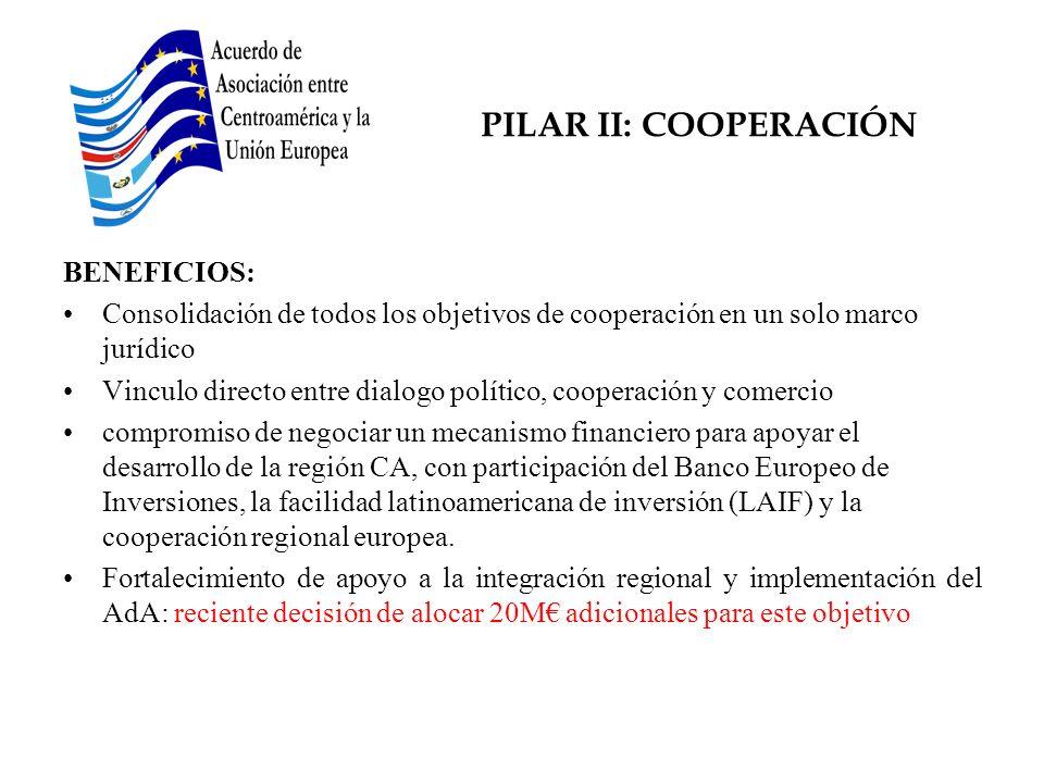 PILAR II: COOPERACIÓN BENEFICIOS: