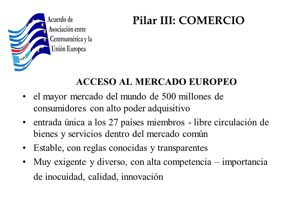 ACCESO AL MERCADO EUROPEO
