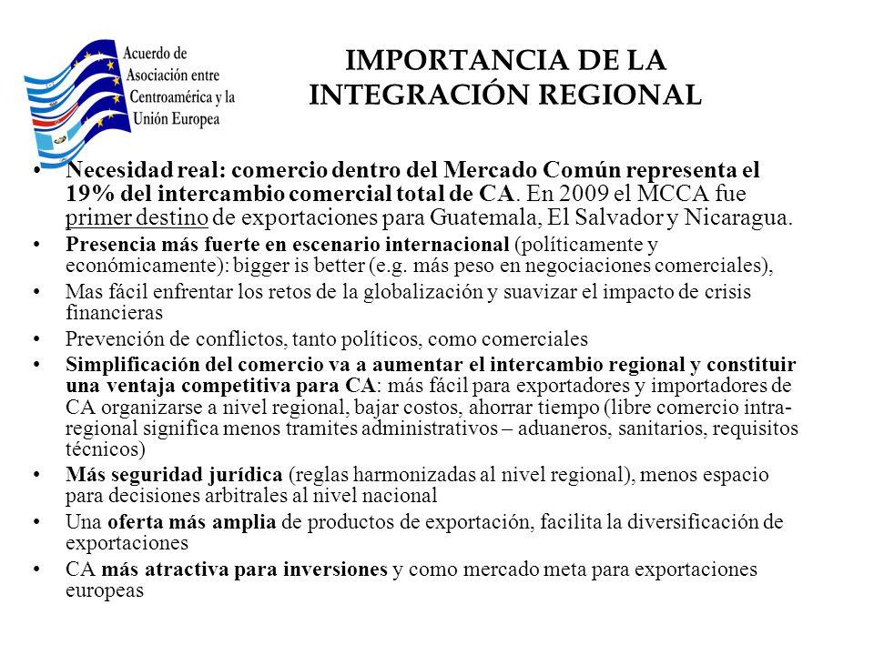 IMPORTANCIA DE LA INTEGRACIÓN REGIONAL