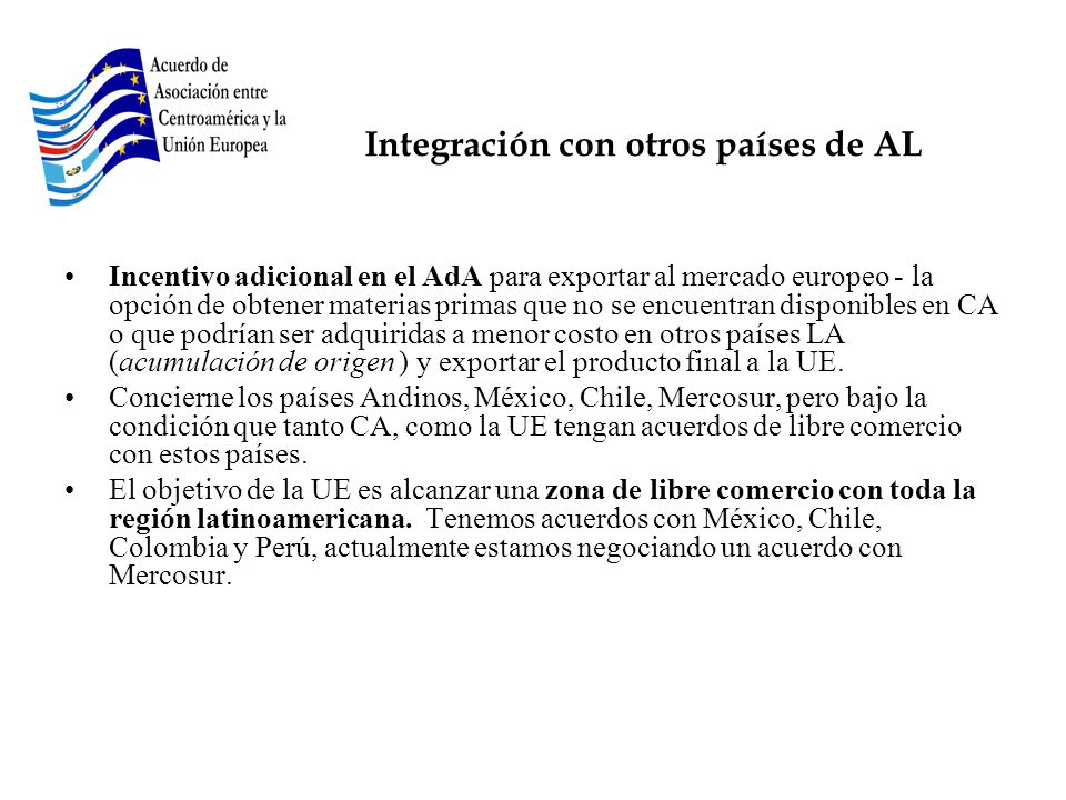 Integración con otros países de AL