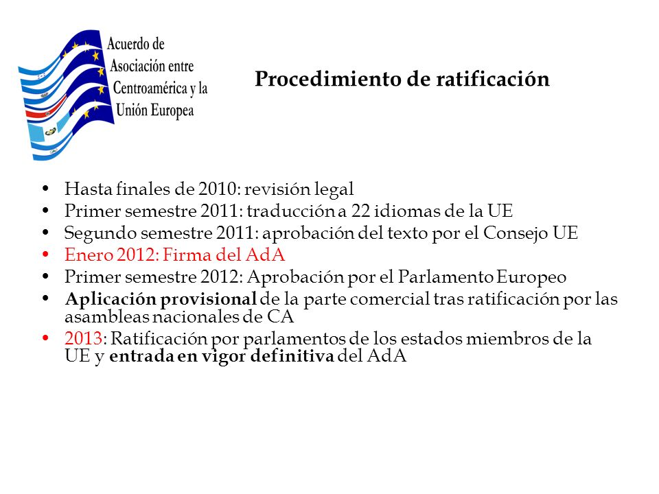 Procedimiento de ratificación