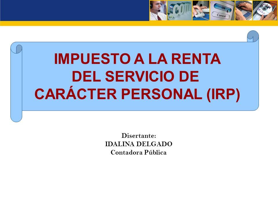 CARÁCTER PERSONAL (IRP)