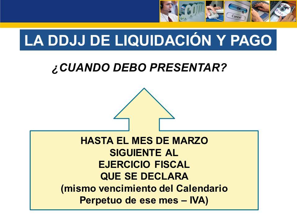 LA DDJJ DE LIQUIDACIÓN Y PAGO
