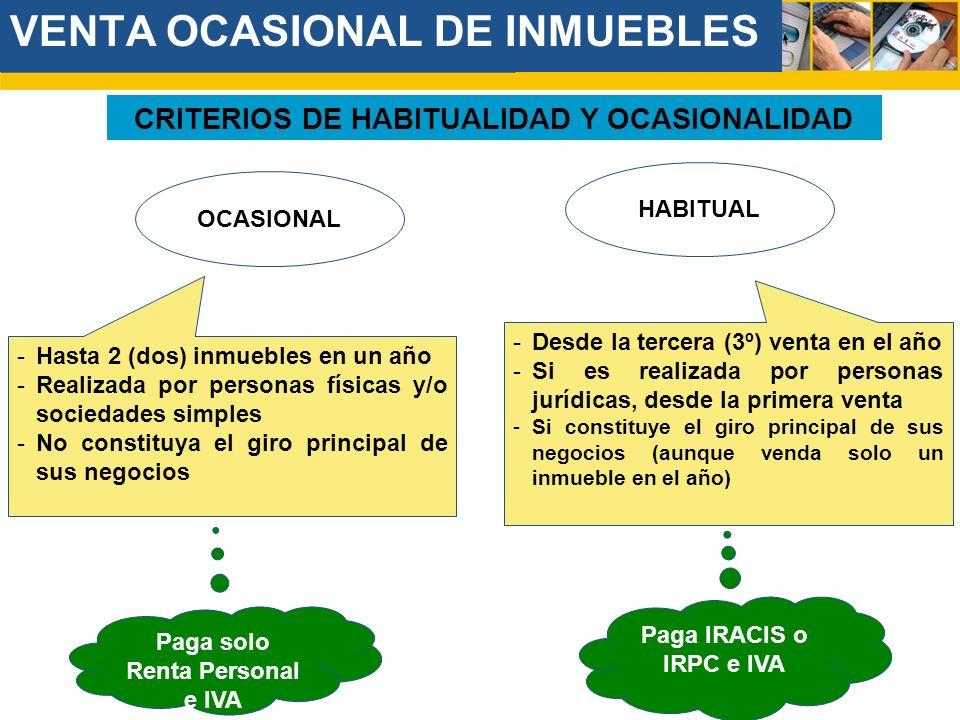 VENTA OCASIONAL DE INMUEBLES