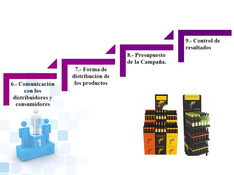6.- Comunicación con los distribuidores y consumidores