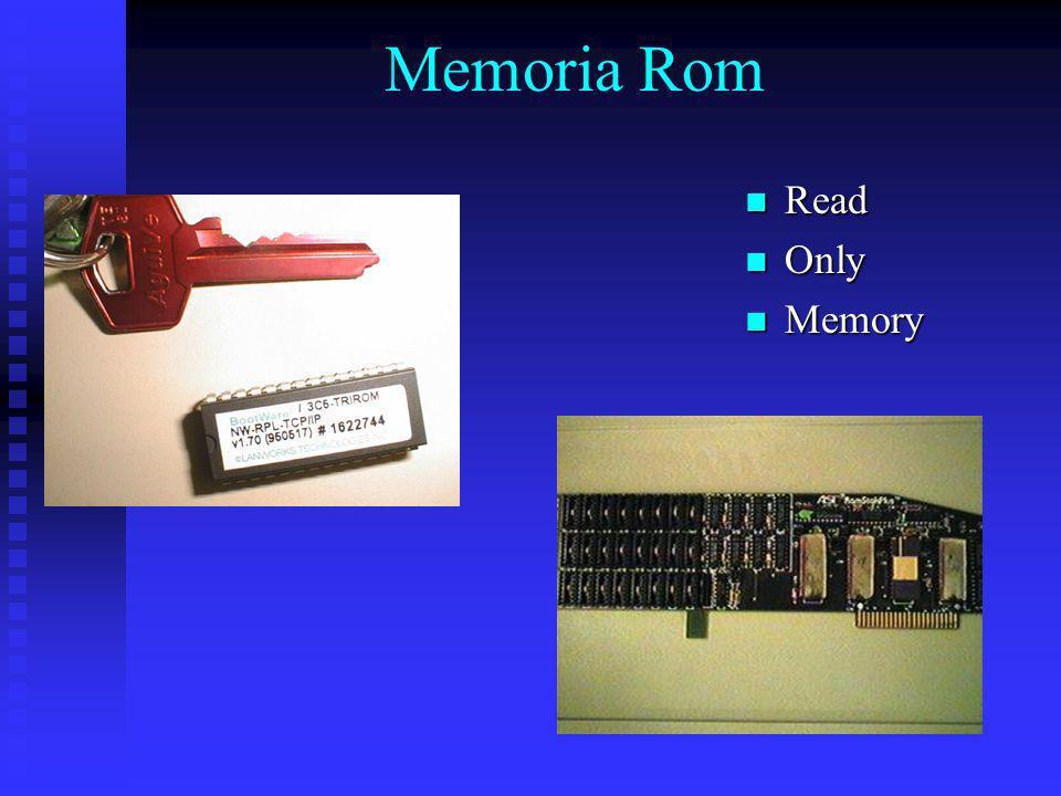 Memoria Rom Read Only Memory