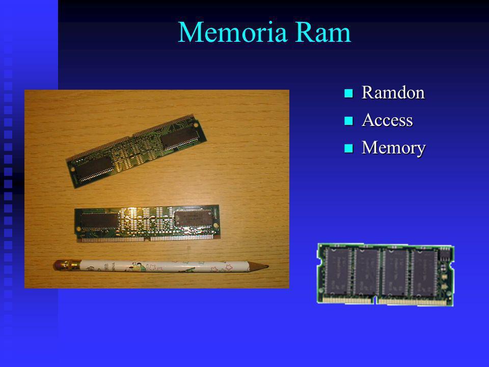 Memoria Ram Ramdon Access Memory