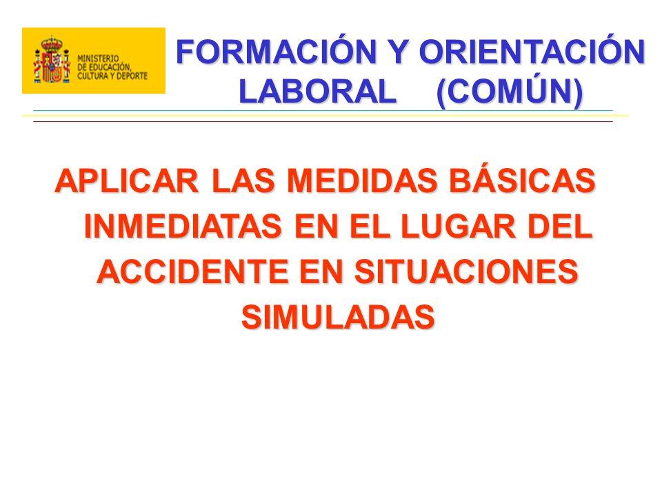 FORMACIÓN Y ORIENTACIÓN LABORAL (COMÚN)