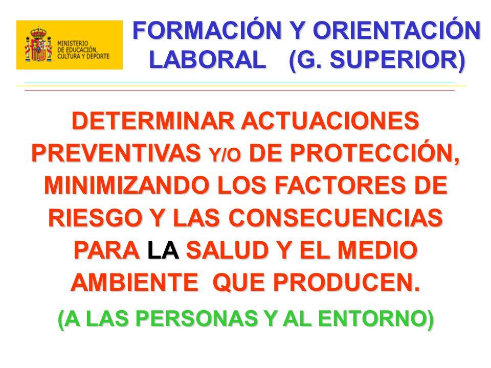 FORMACIÓN Y ORIENTACIÓN LABORAL (G. SUPERIOR)